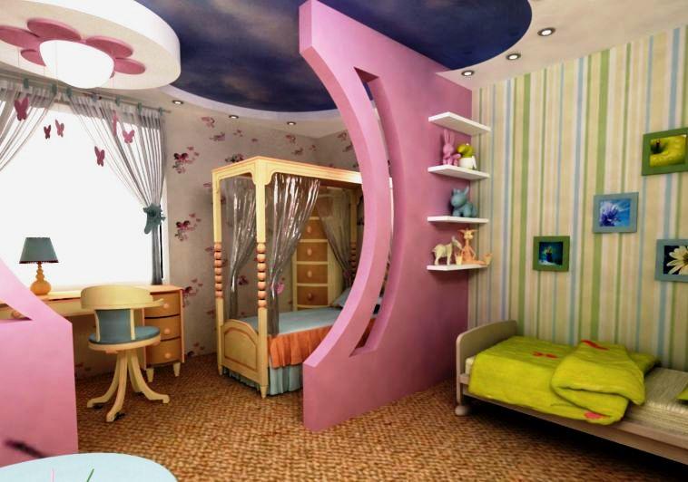 комната для большой и маленькой девочек