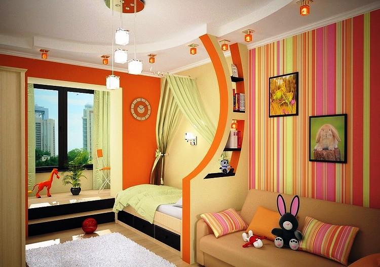 пример детской комнаты для девочек разного возраста