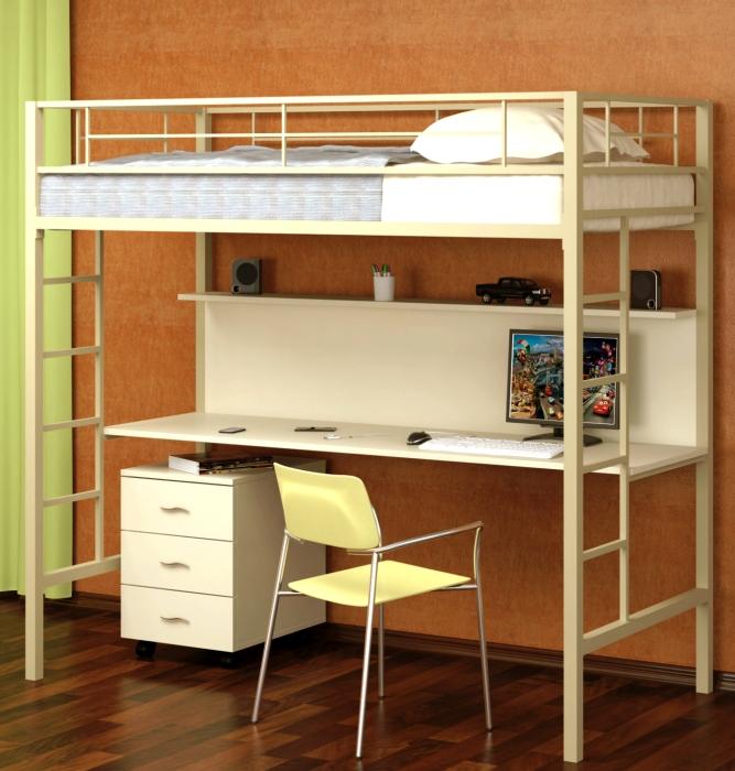 двухэтажная кровать железная
