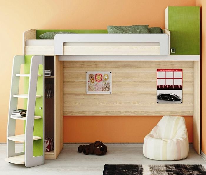 двухэтажная кровать для ребенка школьника