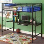детская двухъярусная кровать со столом