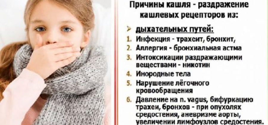 причины кашля без температуры у детей