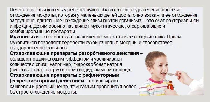 мокрый кашель у ребенка без температуры