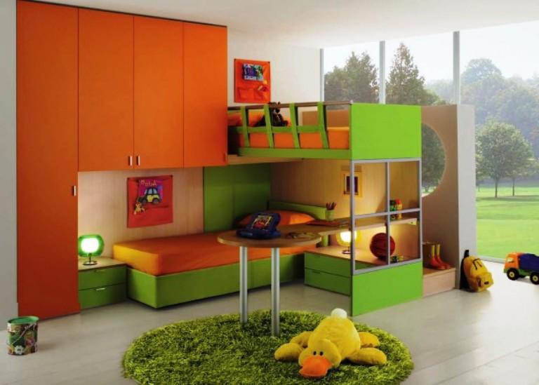 красивая и яркая детская комната для мальчика школьника