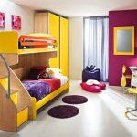 яркая и функциональная комната для девочки
