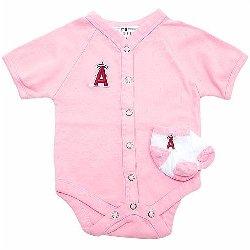 Слип для новорожденного розовый
