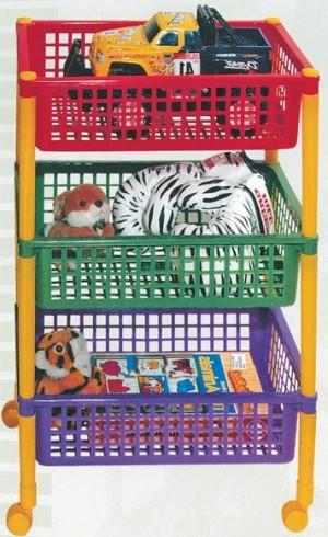пластиковый стеллаж для игрушек