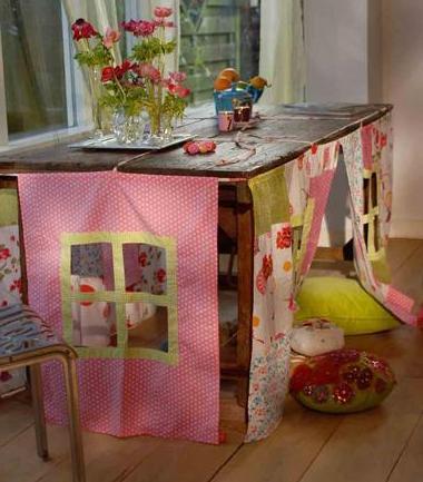 дом под столом для игрушек